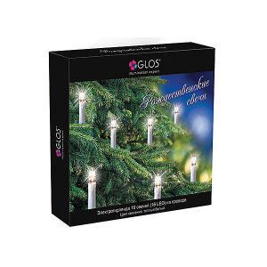 Электрогирлянда  Рождественские свечи, 7,5 м GLOS. Цвет: разноцветный