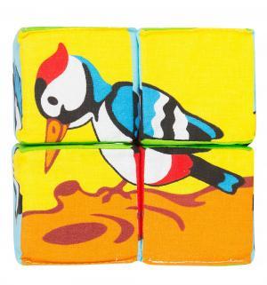 Кубики  Собери картинку птицы, 6 см Мякиши