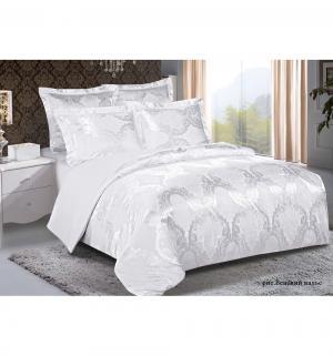 Комплект постельного белья  2-х спальный/нав. 50х70 Венский вальс, цвет: серебряный Василиса