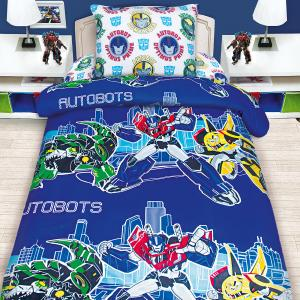 Детское постельное белье 1,5 сп Mona Liza, Transformers Трансформеры на синем Мона Лиза