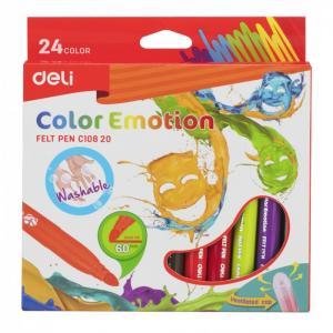 Фломастеры  Color Emotion вентилируемый 24 цвета Deli