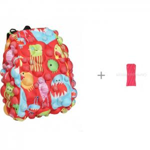 Рюкзак Bubble Full Monsters Under the Red с пеналом-сумочкой Neon Pouch MadPax