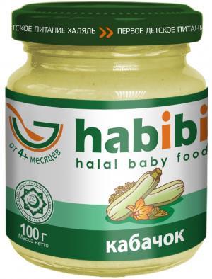 Пюре  Халяль кабачок с 4 месяцев, 100 г Habibi
