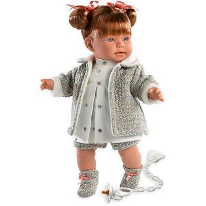 Кукла  Амелия 42 см, со звуком Llorens. Цвет: серый