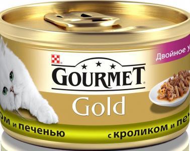 Корм влажный  Gold Active Longevity (Активное долголетие) для взрослых кошек, кролик/печень, 85г Gourmet