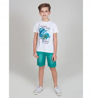 Футболка  Пляж, цвет: белый Luminoso