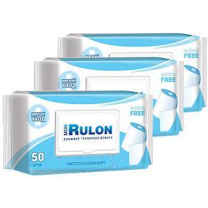 Влажная туалетная бумага  Mon Rulon № 50, 3 шт Авангард
