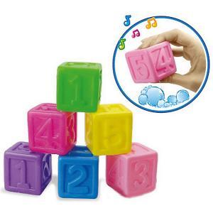 Игрушка  Кубики с цифрами Bebelino. Цвет: разноцветный