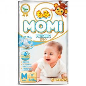 Premium Подгузники M (6-11 кг) 60 шт. Momi