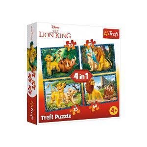 Пазлы Treft  Король Лев и друзья, 35-48-54-70 элементов Trefl