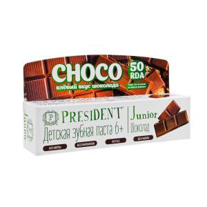 Зубная паста  Junior Шоколад 50 RDA, от 6 лет, мл President