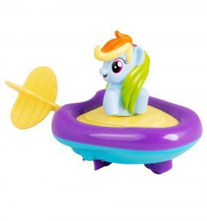 Игровой набор для ванны  Рейнбоу Дэш в заводной лодочке, 15 см My Little Pony