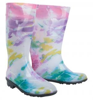 Резиновые сапоги Lets, цвет: белый/розовый Let's