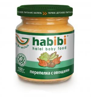 Пюре  в баночке перепелка с овощами 6 месяцев, 100 г Habibi