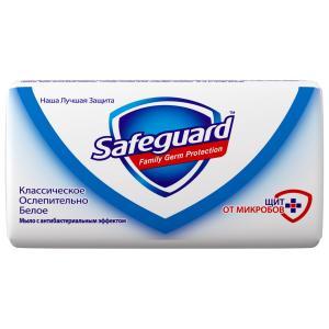 Мыло  классическое белое Антибактериальное, с 3 лет, 100 г Safeguard