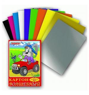 Картон цветной А4 10 листов  Заяц на джипе цв. Пифагор