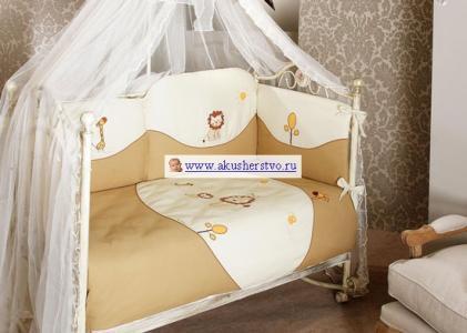 Комплект в кроватку  Diamond Lion Sestetto Long (6 предметов) Feretti