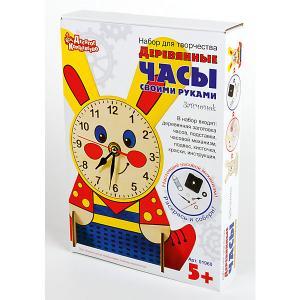 Набор для творчества. Деревянные часы своими руками (с красками). Зайчонок Десятое королевство
