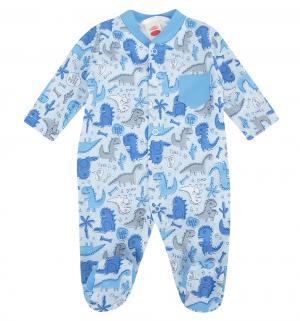 Комбинезон  Dino Blue, цвет: голубой Makoma