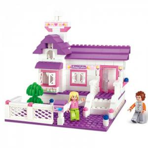 Конструктор  Розовая мечта Частный дом (193 детали) Sluban