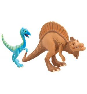 Набор фигурок  Старый Спинозавр и X-Ray Орен Поезд Динозавров