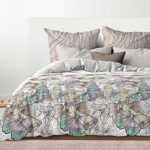 Комплект постельного белья  Махаон, 2-спальное Романтика. Цвет: серый