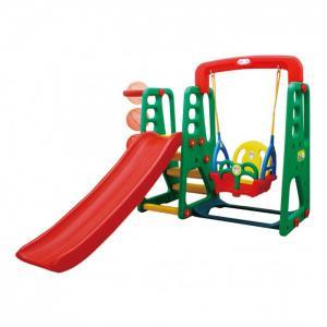 Детский игровой комплекс JM-1002 горка баскетбольное кольцо с мячом и подвесные качели Happy Box