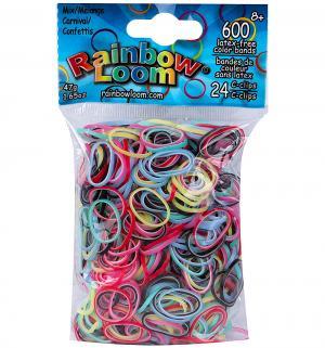 Набор цветных резиночек  Карнавал для плетения Микс Rainbow Loom