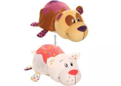 Мягкая игрушка  Вывернушка Панда и Кошечка с ароматом 35 см 1 Toy