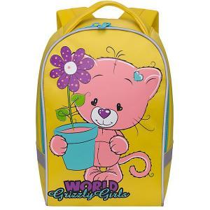 Рюкзак детский , желтый Grizzly