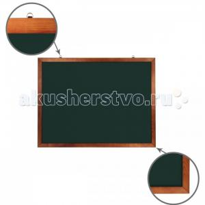 Доска для мела магнитная деревянная рамка 90х120 см Brauberg