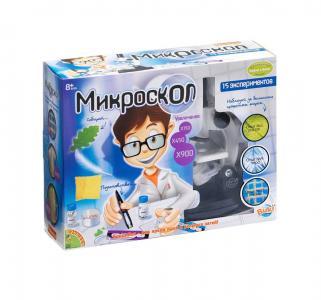 Набор  Французские опыты Науки с Буки Микроскоп 15 экспериментов Bondibon