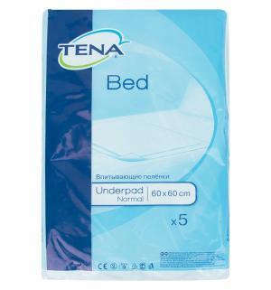 Простыни гигиенические  Bed Normal 60х60 см, 5 штук, цвет: белый Tena