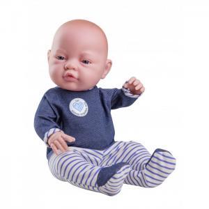 Кукла Бэби девочка в синих ползунках 45 см Paola Reina