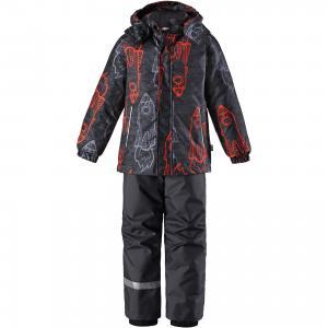 Комплект  : куртка и полукомбинезон Lassie. Цвет: серый/оранжевый