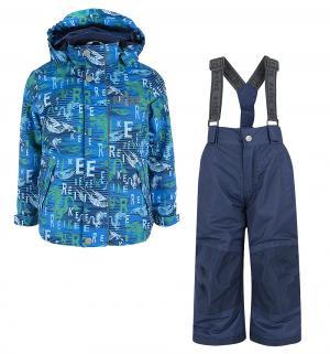 Комплект куртка/полукомбинезон , цвет: синий Reike