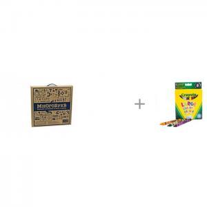 Набор игровой из картона МногоБукв с восковыми мелками Crayola CartonHouse