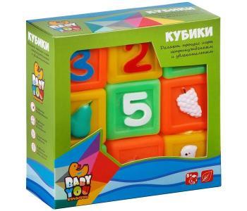 Игровой набор для купания кубики Цифры, Фрукты, Животные, 9 шт. Bondibon