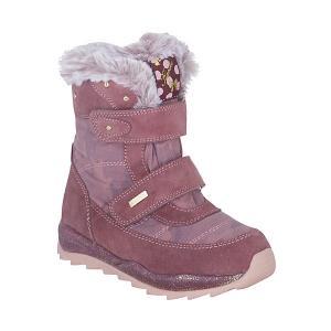 Утепленные ботинки Kapika. Цвет: розовый