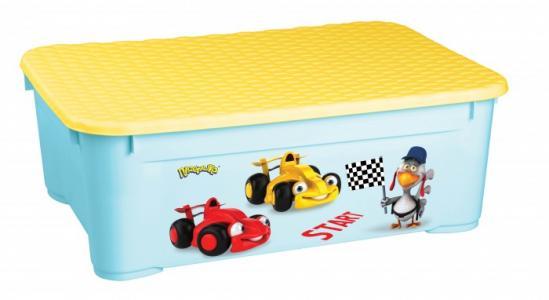 Ящик для игрушек с аппликацией 555х390х190 мм Пластишка