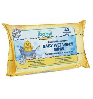 Влажные салфетки  комфорт Minis, 40 шт Baby Line