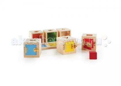 Деревянная игрушка  Сортер Запирающиеся коробочки Пикабу Guidecraft