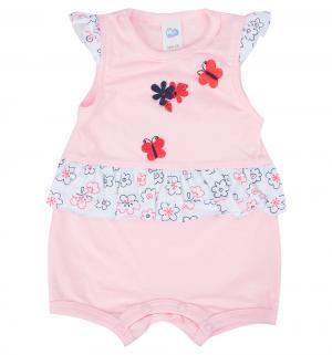 Полукомбинезон , цвет: розовый Aga