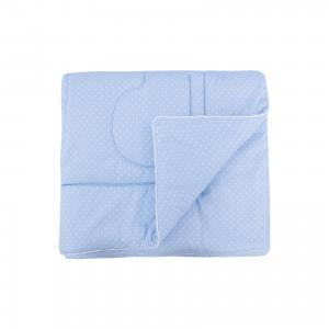 Одеяло в кроватку 110х140, Горошек, Soni kids, голубой Kids