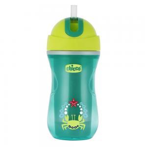 Чашка-поильник  Sport Cup с трубочкой, 14 месяцев, цвет: зеленый Chicco