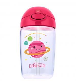 Чашка-поильник Dr.Browns с трубочкой, 12 мес, цвет: розовый Dr.Brown's