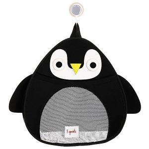 Органайзер для ванной  Пингвин 3 Sprouts. Цвет: черный