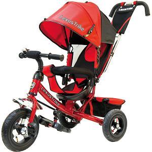 Трехколесный велосипед  с надувными шинами 10 и 8 Lexus Trike. Цвет: красный