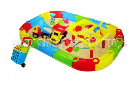 Песочница Большая + стол-песочница Веселый Пляж QQ-434 Игралия