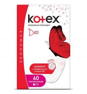 Прокладки  ультратонкие ежедневные, 60 шт Kotex